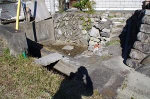 庚申碑(み歴マ 初瀬 100)付近の水場