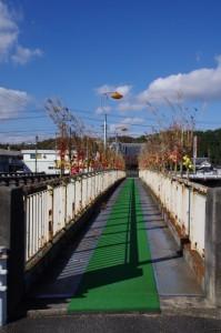 阿保橋の隣の歩行者専用橋(木津川)