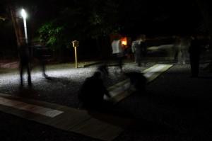 舗設の撤去(御薗神社)