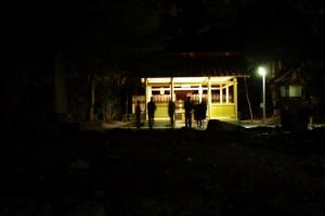 遷座祭の直後(御薗神社)