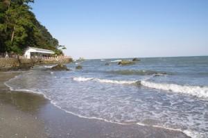 龍宮社前の海岸(二見興玉神社)