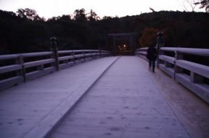 霜が降りた宇治橋