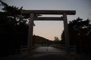 宇治橋(東詰からの眺め)
