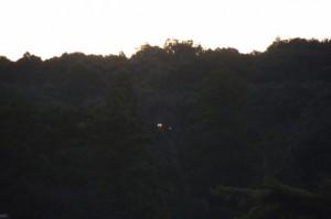 日の出前の宇治橋