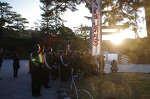 宇治橋からの日の出