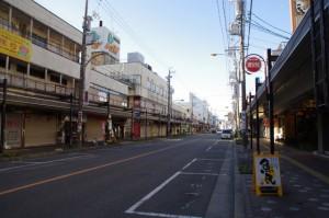 松阪駅 JR側から伊勢街道へ