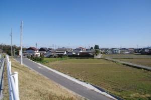 櫛田橋南詰から早馬瀬神社方面を望む