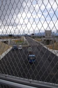 工事中の中勢バイパス(小森向山第2跨道橋から)