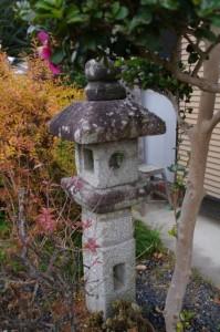 石造キリシタン燈篭(引接寺)