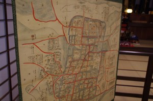 木造の古地図(引接寺)