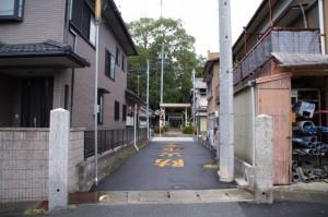 川併神社への参道