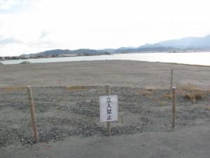 中止された海上アクセス関連事業地(伊勢市)