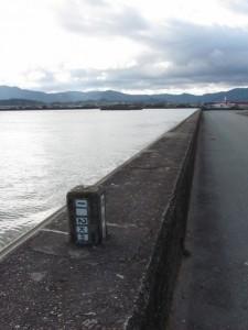 河川距離標 1.2km(勢田川)