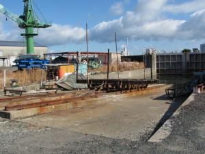 出口造船所付近