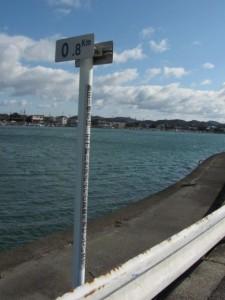 河川距離標 0.8km(勢田川)