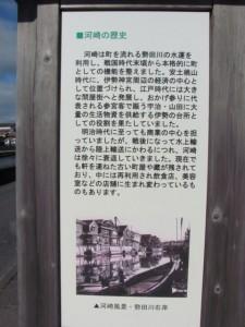 河崎の歴史の案内板