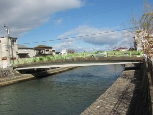 簀子橋(手前上流側)、錦水橋(奥下流側)(勢田川)