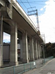 近鉄鳥羽線の架橋(瀧浪橋付近)