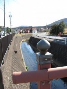 勢田橋から望む勢田川の上流