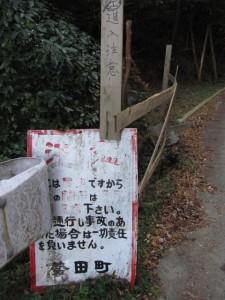 勢田川上流、林道へ