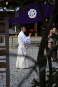 大祓式の事前説明(猿田彦神社)