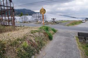 竹之内町環濠集落への分岐(山の辺の道)