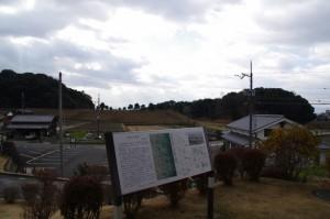 トレイル青垣から望む崇神天皇陵
