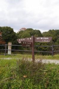 崇神天皇陵への分岐道標(山の辺の道)