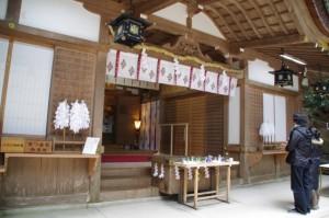 拝殿(狹井神社)