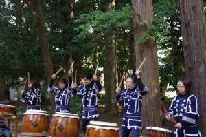 湯立神事が始まる前(栄野神社)