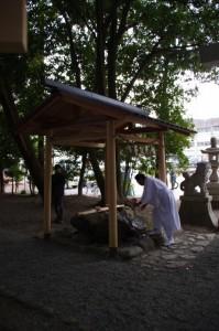 手水舎(櫲樟尾神社)