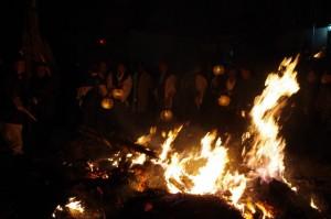 御頭神事(高向大社) - 積木(ツムギ)祭場