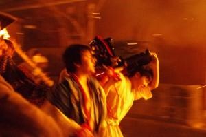 御頭神事(高向大社) - 切祓祭場へ