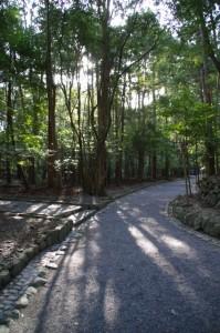 瀧祭神から風日祈宮橋への参道