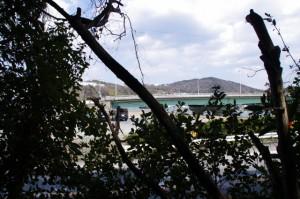 赤崎神社から望む安楽島大橋