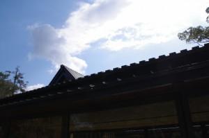 式年遷宮記念せんぐう館の屋根と休憩舎
