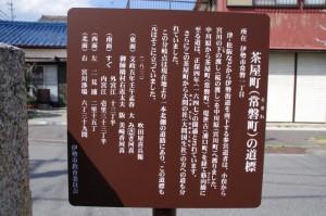 道標(D28)、伊勢市の石造遺物の説明板