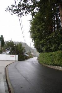 御杖神社駐車場前
