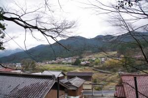石階からの風景(幡須神社)