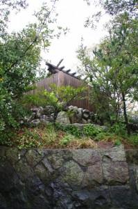 鏡宮神社(朝熊川からの眺め)