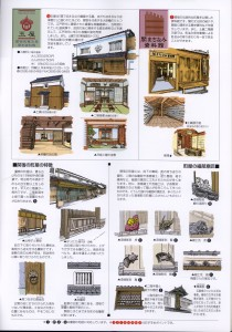 東海道五十三次の内「関宿」イラスト案内図