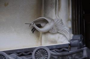 漆喰彫刻 鶴(E)