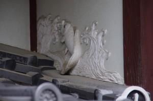 漆喰彫刻 鯉の滝昇り(B)