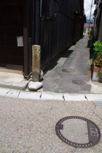 不動尊 弘善寺の道標