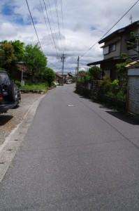 東海道 亀山宿 方向(関宿 西追分にて)