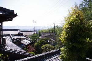 追分神社の石階からの眺め