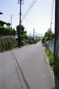 大和田配水池(奈良市水道局)からの下り坂