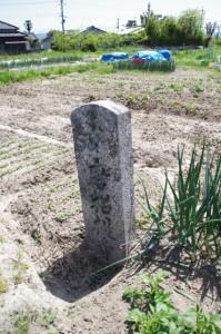 唐招提寺の石柱(垂仁天皇陵付近)
