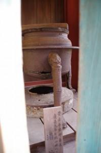 豊臣秀頼御寄進の湯釜(吉野水分神社)