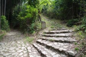 道標(花矢倉から如意輪寺へ)